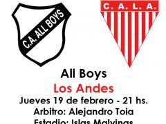 Historial All Boys - Los Andes