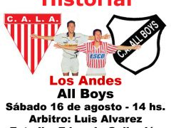 Historial: Los Andes-All Boys